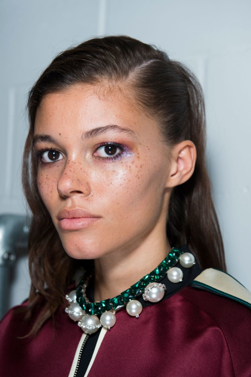 a36d5f80fb7183 If there was one beauty trend that truly dominated all four fashion weeks,  it was make-up artists' obsession with all things sparkly, shimmery and  shiny.